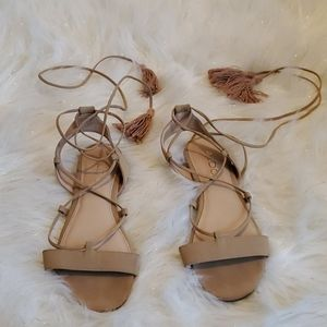 Aldo sandals with ankle straps
